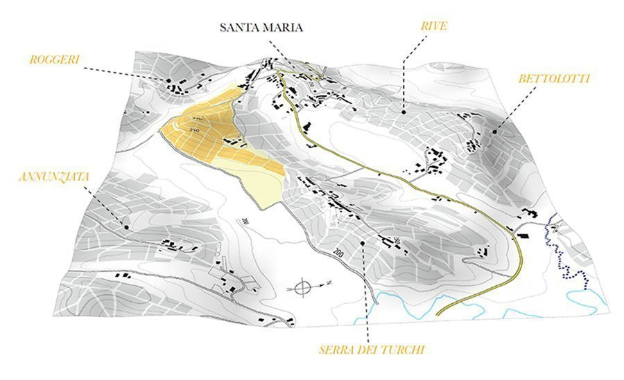 Bricco San Biagio - Mappa Masnaghetti