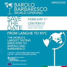Barolo Barbaresco World Opening
